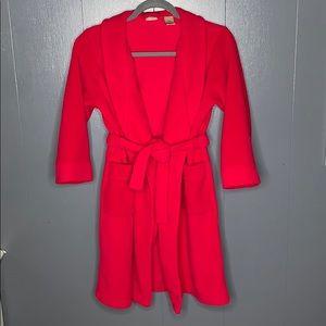 LL Bean Red Fleece Robe